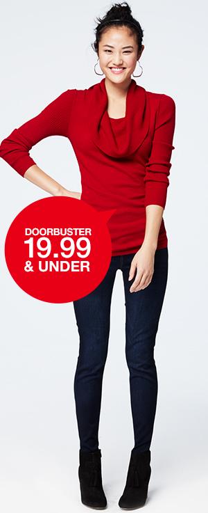 Doorbuster - 19.99 & Under
